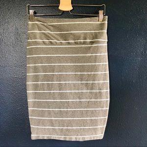 Torrid Striped Knit Foldover Pencil Skirt